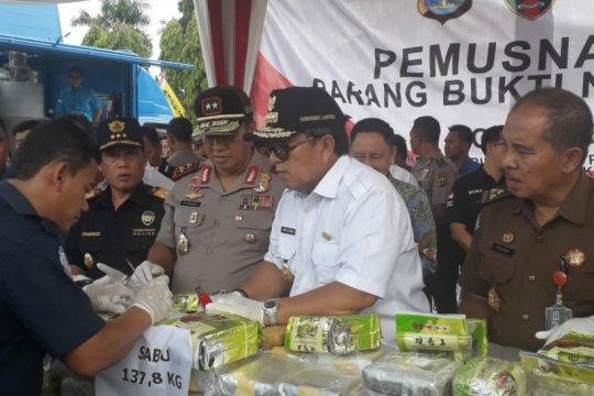Gubernur apresiasi Polda dan BNNP Lampung dalam pemberantasan narkoba