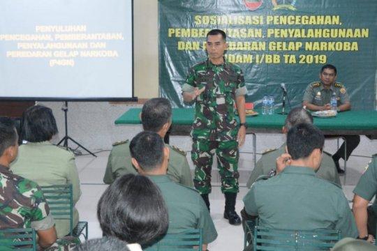 Kodam I/Bukit Barisan sosialisasi pencegahan narkoba