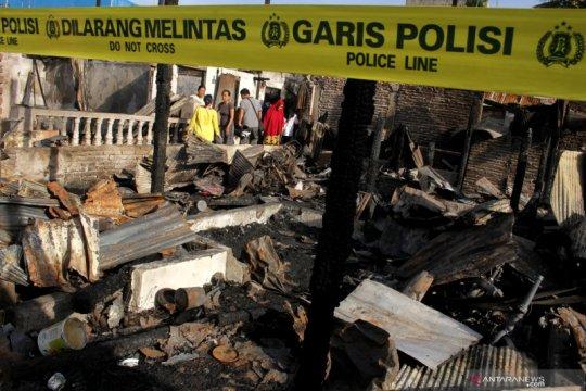 Kebakaran rumah di Makassar