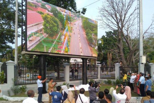 LKBN Antara dan Pemkot Tasikmalaya resmikan videotron di pusat kota