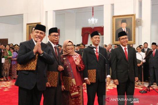 Lima Komisioner KPK ucapkan sumpah di hadapan Presiden Jokowi