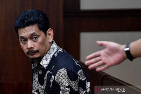 Sidang dakwaan mantan Dirut PT Industri Telekomunikasi Indonesia Darman Mappangara