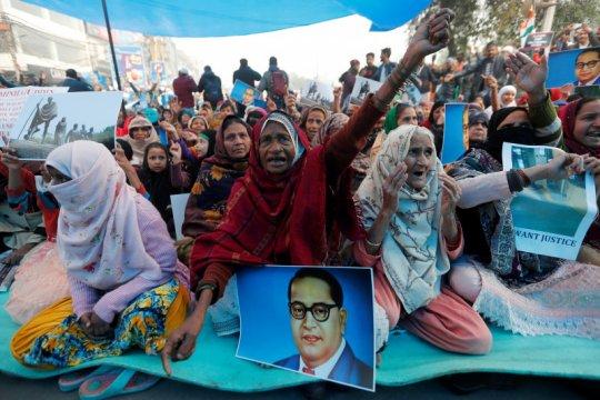 Tolak UU kewarganegaraan India, ribuan pengunjuk rasa ditangkap