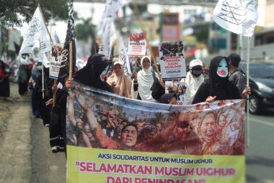 Aliansi Masyarakat Muslim Lampung peduli Uighur gelar aksi solidaritas