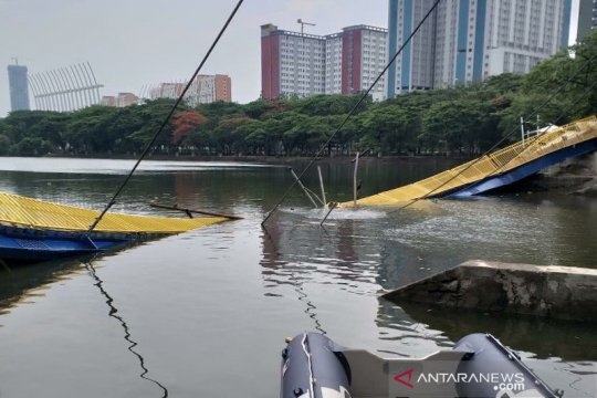 Penyelidikan jembatan ambruk Hutan Kemayoran masih berjalan