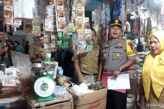 Polres Bangka Tengah dan Satgas Pangan sidak pasar induk
