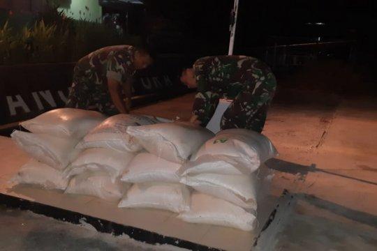 TNI amankan 600 kg gula ilegal di perbatasan Indonesia-Malaysia