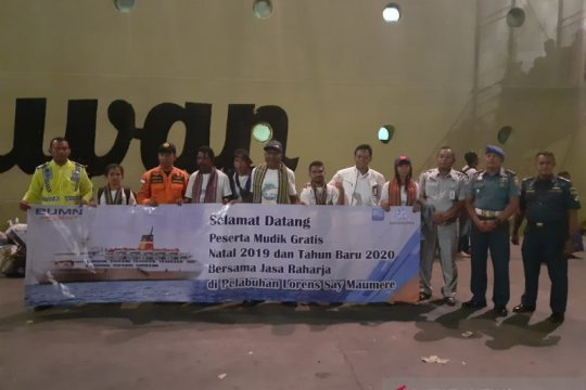 Ratusan peserta program mudik bareng BUMN tiba di Pelabuhan Flores
