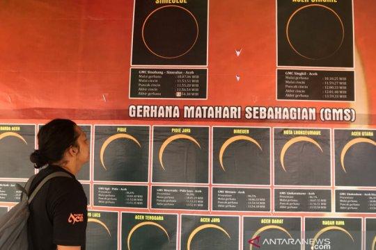Gerhana matahari akan menyapa seluruh daerah di Aceh
