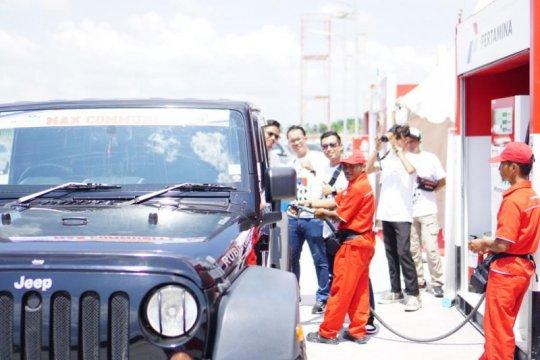 Pertamina gandeng komunitas mobil jajal Tol Sumatera gunakan pertamax