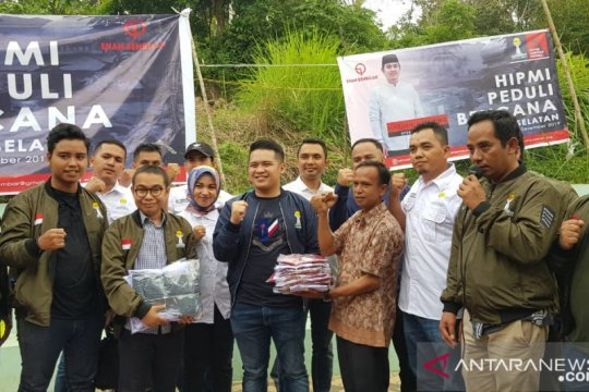 Hipmi Peduli Sumbar salurkan bantuan korban banjir di Solok Selatan
