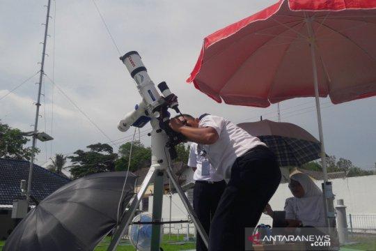 Di Yogyakarta, Gerhana matahari cincin hanya tampak sebagian
