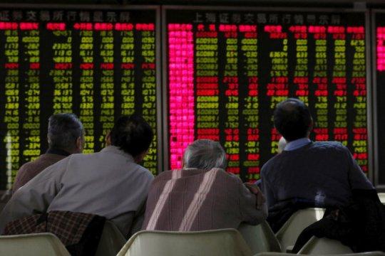 Saham China ditutup naik tipis, tertahan ketegangan AS-China