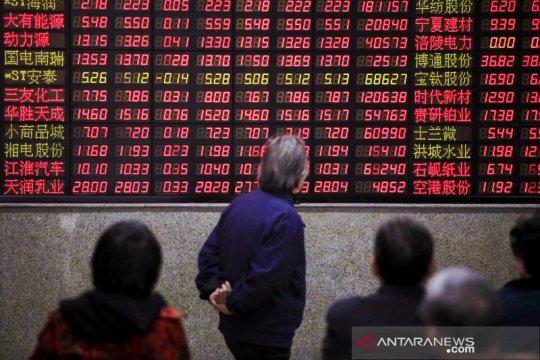 Saham China ditutup lebih tinggi, ditopang data ekonomi positif