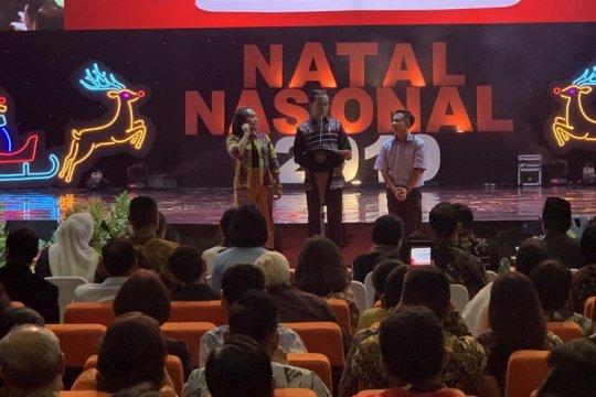 Saat Perayaan Natal, Jokowi tegaskan jamin kebebasan beragama