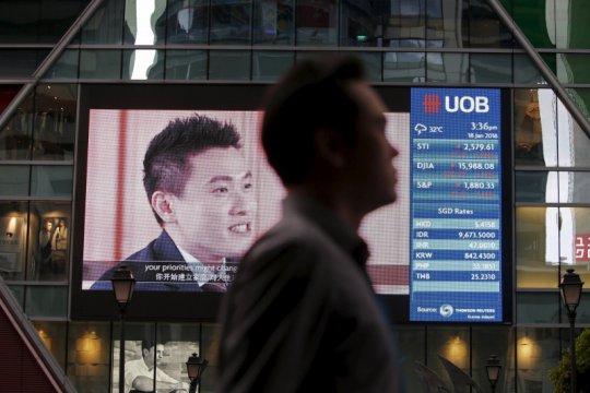 Saham Singapura merosot lagi, Indeks Straits Times jatuh 0,90 persen