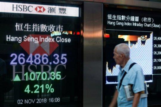 Saham Hong Kong ditutup melambung, terkerek penguatan perusahaan logam