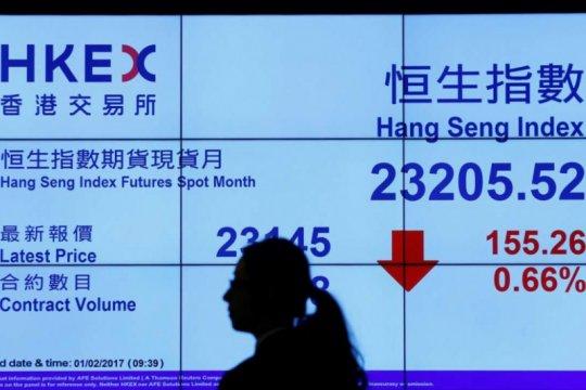 Saham Hong Kong rugi dalam 3 hari, Indeks Hang Seng anjlok 0,63 persen