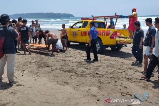 Balawista: Wisatawan tewas di zona bahaya Pantai Pangandaran