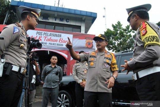 Kakorlantas Polri tinjau jalur wisata Puncak Bogor