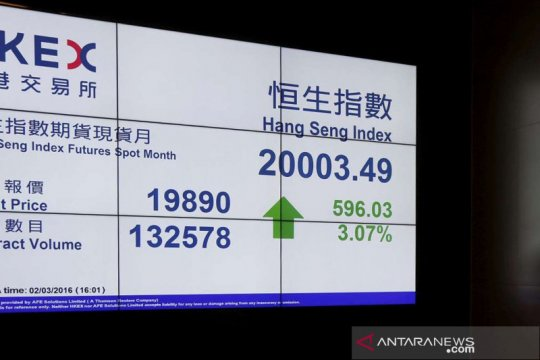 Saham Hong Kong dibuka menguat,  Indeks Hang Seng naik 114,68 poin