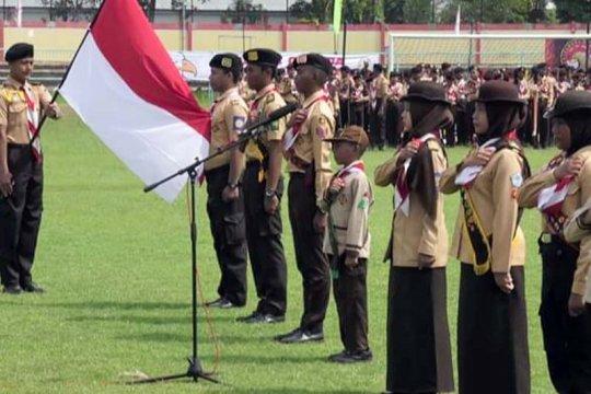 1.969 anggota Pramuka Banyumas dilantik menjadi Pramuka Garuda