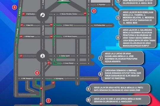 Ini rekayasa arus lalu lintas saat Jakarta Car Free Night