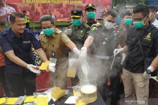 Kasus narkoba di Kota Bandung turun tiga persen tahun 2019