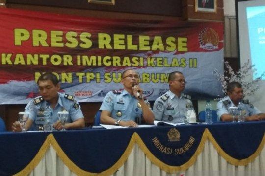Kantor Imigrasi Sukabumi deportasi 27 WNA