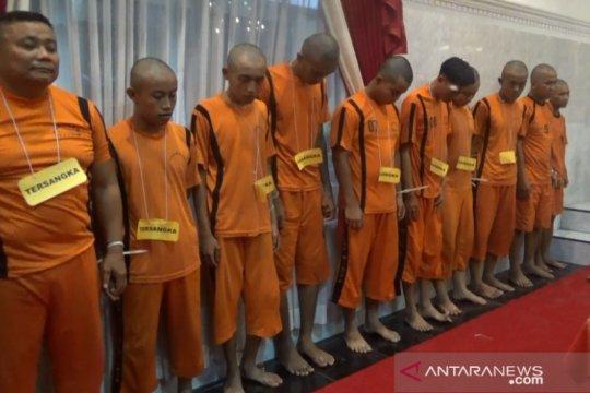 Menjelang pergantian tahun Polisi Sukabumi tangkap 10 pelaku kriminal