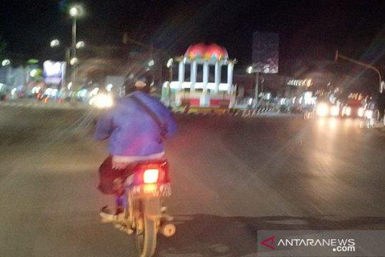 Lalu lintas di Kota Pangkalpinang ramai lancar malam pergantian tahun