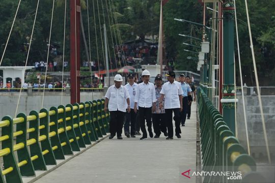 Presiden Jokowi resmikan Bendung Kamijoro