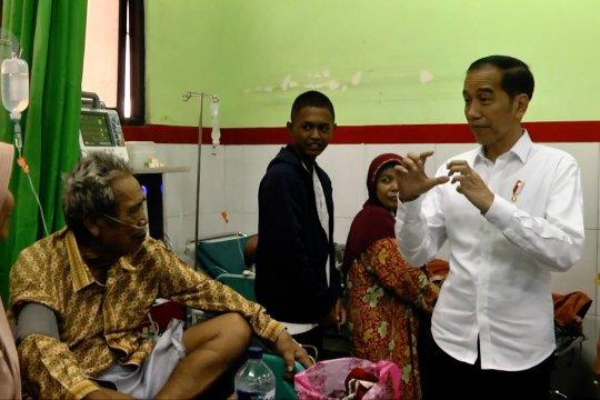 Presiden Jokowi sidak pelayanan BPJS Kesehatan di RSUD Cilegon