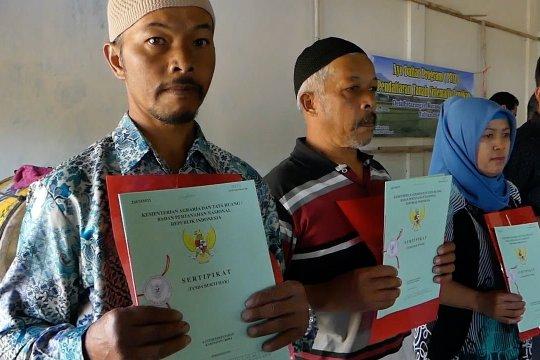 Penerbitan sertifikat tanah di Temangung melebihi target