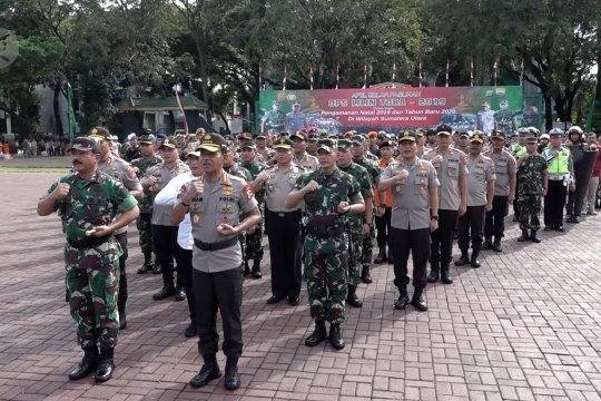 TNI-Polri gelar apel pengamanan Nataru di Medan
