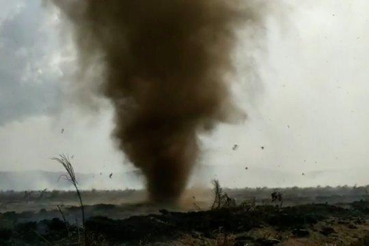 Angin puting beliung ganggu pemadaman karhutla di Kolaka Timur