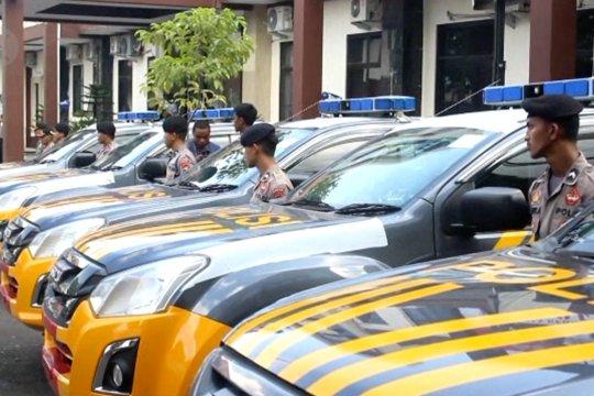 Kapolda Malut serahkan 50 unit kendaraan dinas Polri