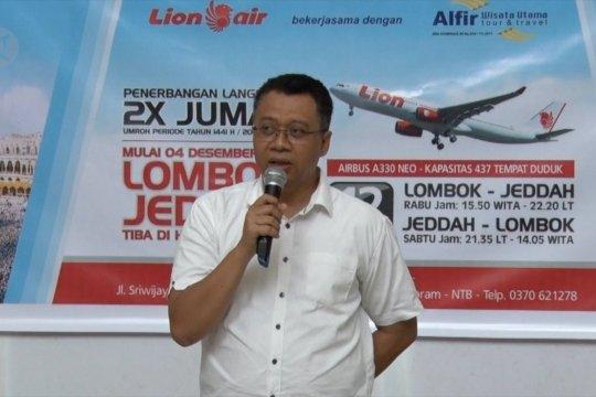 Penerbangan  langsung perdana Lombok - Jeddah