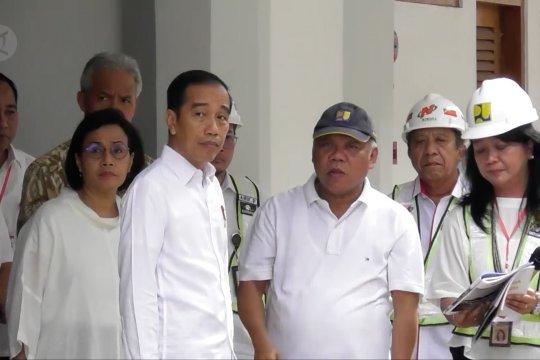 Presiden Joko Widodo tinjau progres rehabilitasi Pasar Johar Semarang