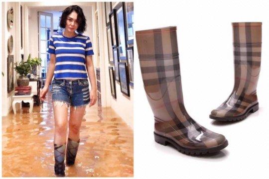 Yuni Shara bilang boots Burberry-nya sepatu lama