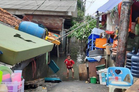 Banjir masih rendam perumahan warga di Kedoya Utara Kebon Jeruk