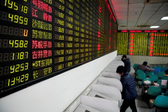Saham China ditutup naik, ditopang kebijakan Fed soal suku bunga
