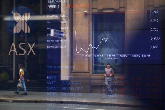 Saham Australia ditutup lebih rendah terseret bank dan penambang