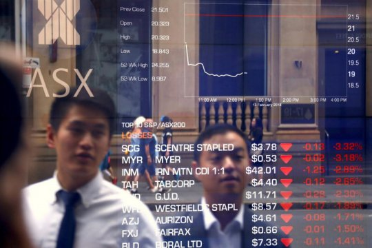 Saham Australia dibuka melemah terseret sektor material