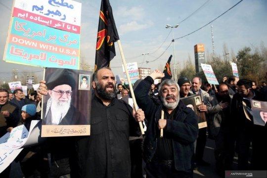 Iran gempur pangkalan udara Irak tak lama usai pemakaman Soleimani