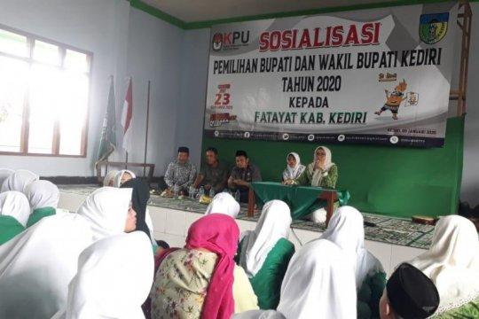 KPU Kabupaten Kediri gencar sosialisasi tahapan pilkada