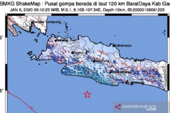 Gempa Garut dirasakan hingga Sukabumi
