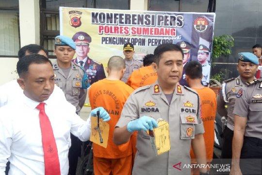 Polisi tangkap lima pelaku spesialis pencuri kendaraan di Sumedang