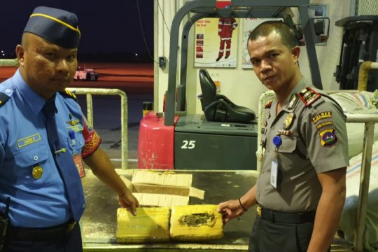 Petugas Bandara Minangkabau gagalkan pengiriman paket berisi ganja