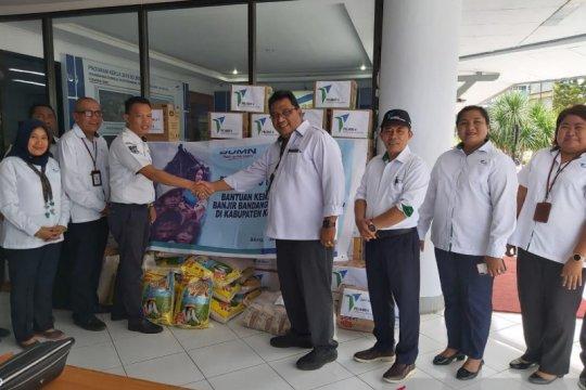 Banjir bandang landa Sangihe, Pelindo IV beri bantuan kepada korban